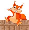 Funny squirrel vector image