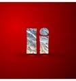 set of aluminum or silver foil letters Letter I vector image