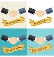Businessman shaking hands vector image vector image