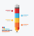 Infographic Template with pencil shape building vector image vector image
