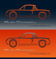 abstract retro sport car design vector image