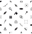 computer graphics black and white seamless pattern vector image