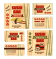 corporate identity for sushi bar vector image