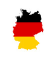 Germany outline and flag vector image