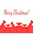 greeting card with a bag of santa claus vector image