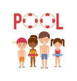 pool party enjoy icon vector image