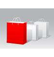 Promotional paper bag vector image