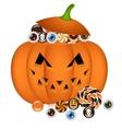 pumpkin busket vector image