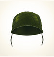 realistic army helmet vector image