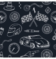 Seamless pattern with Racing auto items sketch vector image
