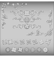 Set of silver vintage design elements vector image