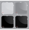 Set of realistic glass frames vector image vector image