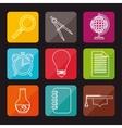 concept education elements school vector image