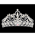 tiara crown womens wedding with white stones vector image vector image
