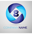 Eight number colorful logo in the circle template vector image
