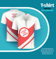 mens t-shirt mockup advertising concept vector image