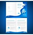 booklet catalog brochure folder milk liquid drops vector image