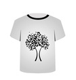 T Shirt Template- Butterfly tree vector image