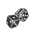 black dice vector image
