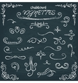 Collection of chalkboard vignettes vector image