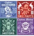 Set of vintage motorcycle labels stpck vector image