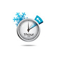 Clock switch to winter time vector image