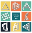 Impossible objects Set 3 vector image vector image