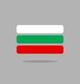 Bulgaria flag stylized Bulgarian flag of vector image