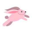 cartoon pink bunny vector image