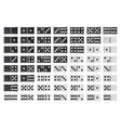 domino full big set black and white color vector image