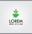 herbal tea logo vector image