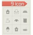 homey icon set vector image