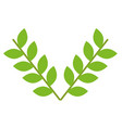 leafs crown isolated icon vector image