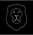lion head the white path icon vector image