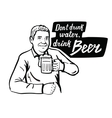 man with beer vector image
