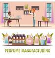 perfume shop banner set vector image