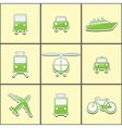 public transport vector image