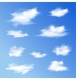 Set of white different clouds vector image