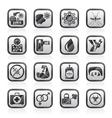 Zika Virus pandemic icons vector image vector image