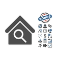 Find Building Flat Icon With Bonus vector image