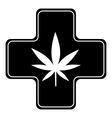 Medical marijuana icon simple style vector image