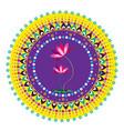 flower pattern mandala vector image