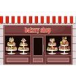 Store of sweets and bakery vector image vector image