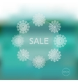 Christmas winter sale template vector image
