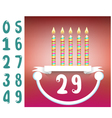 birthday with smiling vector image