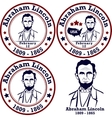 Abraham Lincoln stamps vector image