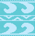 Blue crochet pattern vector image