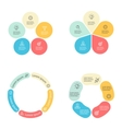 Circular infographics with 5 sections vector image