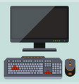 desktop computer telecommunication equipment metal vector image