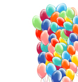 Festive multicolored balloons background vector image